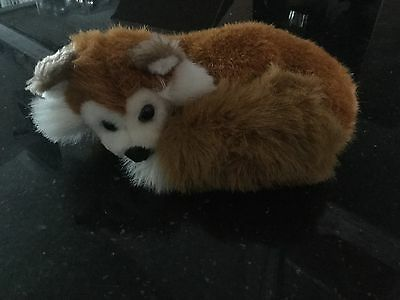 Small Curled Up Sleeping Plush Toy Fox Foxes Clean Used Condition No Damage