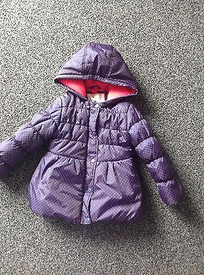 Girls Winter Jacket From Mothercare Aged 3-4yrs