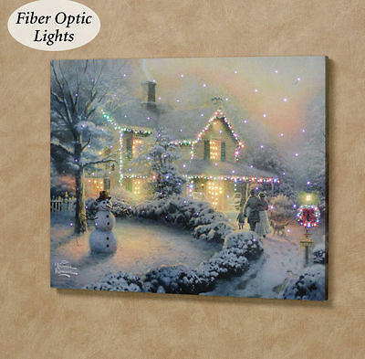 Heart of Christmas LED Lighted Canvas Kinkade Painting Great UNIQUE Holiday gift