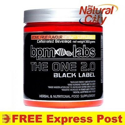 THE ONE 2.0 Pineapple BLACK LABEL BY BPM LABS 30serves- FREE EXPRESS POST