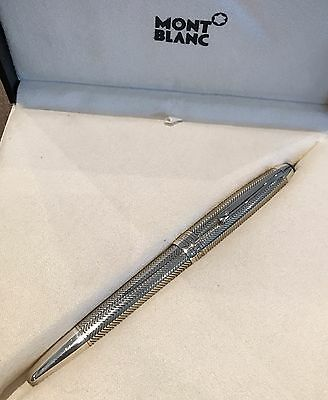 Mont Blanc Meisterstuck LeGrand Solitaire Silver Barley Fountain Pen