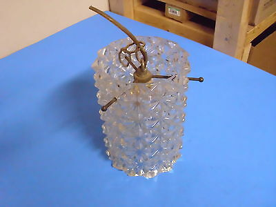 Vintage Glass Hanging Light No Chain