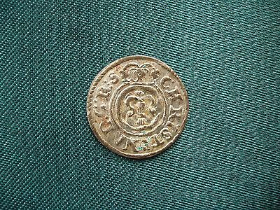 Silver Medieval Coin Solidus 1648. LIVONIA RIGA SWEDISH OCCUPATION