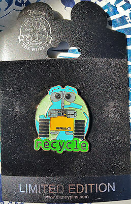 Disney Le 250 Disneystore.com Attitudes Series Wall•e Recycle Pin Moc Rare!