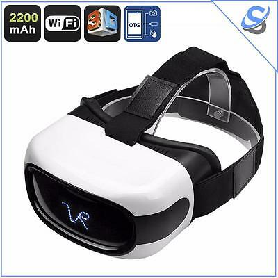 Occhiali VR 3D Android Display 5 Pollici HD CPU Quad Core WiFi OTG Google Play