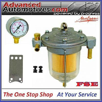 Malpassi Filter King Fuel Pressure Regulator & Setup Gauge