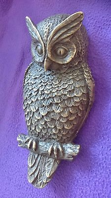 Big vintage owl door knocker doorknocker bronze ornament bird