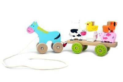 Pull-A-L Farm Animal Cart
