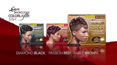 Luster's Shortlooks Color Relaxer 3 In 1 (Black,brown,and Red)