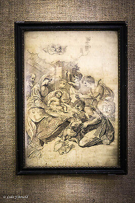 18th Century Pencil Drawing - The Birth of Christ
