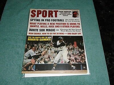 August 1967 Sport Magazine-Pittsburgh Pirates Roberto Clemente-Only Sport Cover