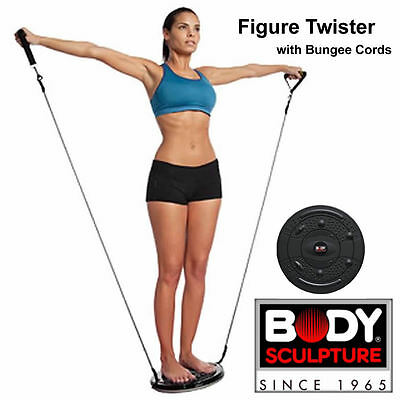 Upper Body Workout Figure Twister  Sculpture With Detachable Bungee Cords BNIB