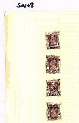 SA148 PAKISTAN Overprints Original album page from old-time collection