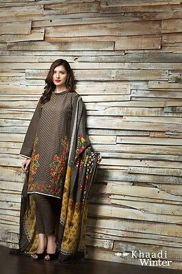 Pakistani Famous Designers Collection Un-Stitched Embroidered Khdder