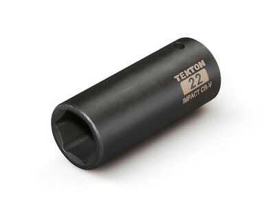 TEKTON 47813 - 1/2 in. Drive Deep Impact Socket (6-Point) 22 mm