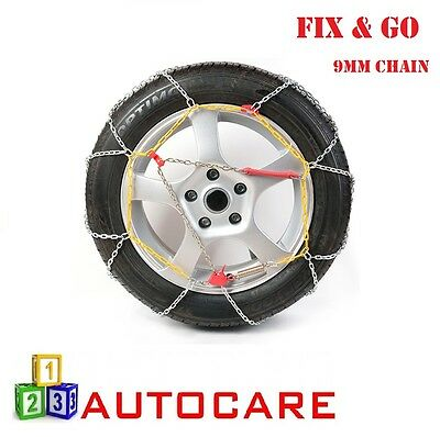 """9mm Snow Chains 15"""" 215/70-15 To PAX 215/680-R480 2 Pck Size 12 Sizes in Details"""