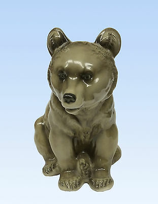 Hutschenreuther Large Porcelain Brown Bear, Seated; Us Zone Germany