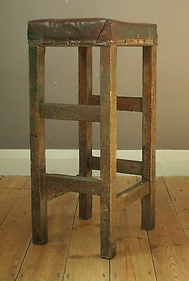 Vintage Industrial machinists stool,