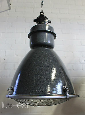 """1 of 14 """"BRNO""""  Industrie Design Fabrik Lampe Vintage Emaille XXL Factory Light"""
