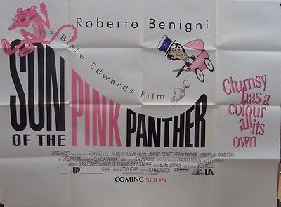 Roberto Benigni  SON OF THE PINK PANTHER(1993) Original UK quad movie poster