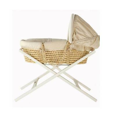 Mamas and Papas Deluxe Stand For Moses Basket Ivory Brand New