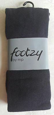 Footzy Navy Tights for Girls – Size:  2 years / 80-92cms