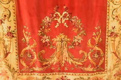 Sublime Long Antique French Printed Velvet Chateau Portiere / Curtain, 19th C
