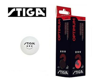 Stiga Optimum 40 Celluloid 3* Table Tennis Balls
