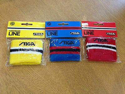 Stiga Table Tennis Line Wristband - Available in 3 colours