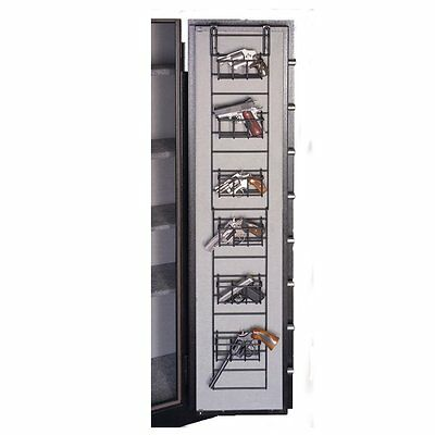 Gun Safe Rack Organizer 6 Hand Narrow Full Pistol Wire Door Hanger Storage Space