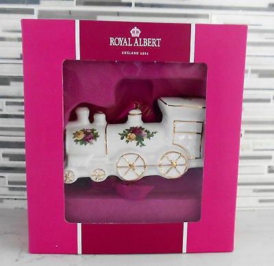 Royal Albert Old Country Roses Toy Train Ornament NIB