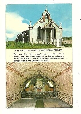 Orkney - a photographic postcard of the Italian Chapel, Lamb Holm