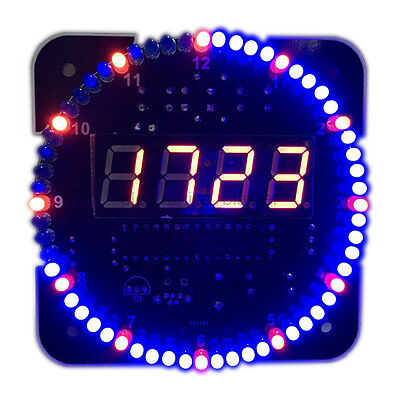DS1302 Red LED Clock Electronic Light Control Temperature DIY Kits