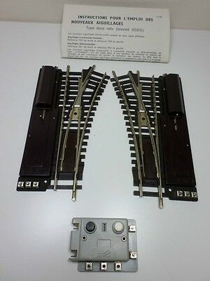 French Hornby acHO Pair of Points (Remote operation) with Switches