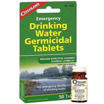 Lot 3 Coghlans 7620 Emergency Germicidal Drinking Water Tablets