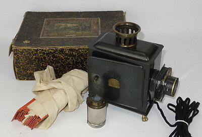 Antique Magic Lantern With Original Box & Slides EP Made In Germany