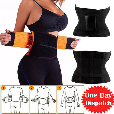 Unisex Xtreme Power Belt Hot Slimming Thermo Shaper Waist Trainer Sports TF0230