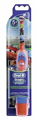 Braun Oral-B Kids Stages Power Battery Toothbrush Disney Cars Boys Children