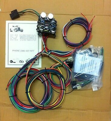 12 circuit 14 fuse universal street rod wiring harness us made ez wiring 12 circuit street rod wiring harness