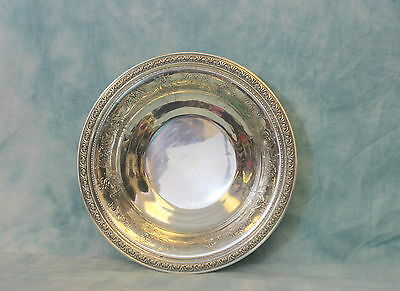 Large & Heavy 23 Ounces Troy Gorham Sterling Silver Center Bowl Very Decorative