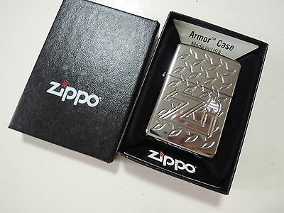 Authentic Zippo Lighter - Armor Case 184375 - No Inside Guts Insert