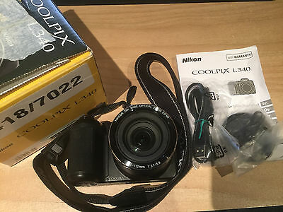 Nikon Coolpix L340 Camera with Nikkor 28x wide optical zoom ED VR 4.0-112mm lens