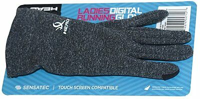 HEAD Sensatec Touchscreen Ladies Digital Running Gloves Gray Size Small NEW