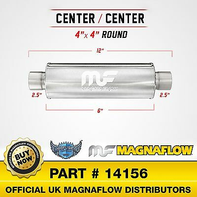 "2.5"" 4""  Round  6""  Satin Stainless MagnaFlow Universal Exhaust Silencer 14156"