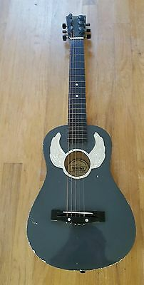 "Child's Guitar 31"" First Act FG210 Wooden Guitar Metal Strings Scuffs Scratches"