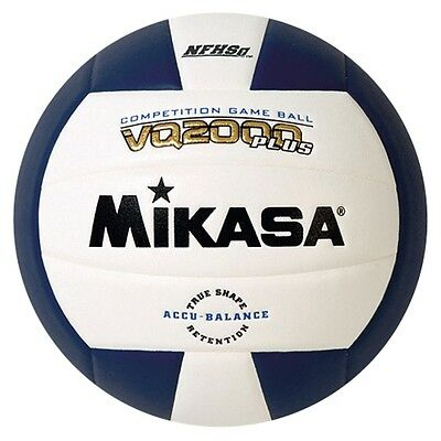Mikasa VQ2000 Plus NFHS Competition Indoor Volleyball - Navy/White