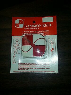 New 6 1/2 Foot Gammon Reel- Red & White Free Shipping!