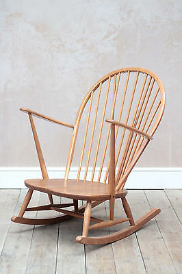 Vintage Retro Mid Century Blonde Ercol Rocking Chair/ Armchair