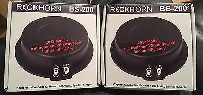 2 X Reckorn Bs 200 Body Shakers Only Month Old
