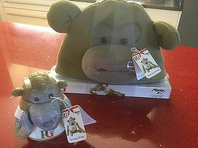 PG Tips Monkey Ceramic Tea Caddy And Teapot Cosy New Rare Collectable